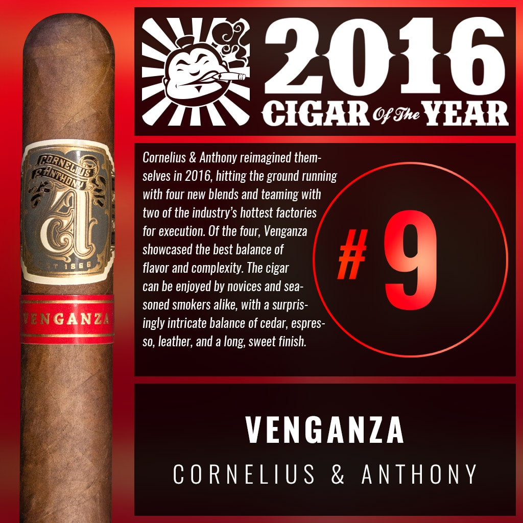"Cornelius & Anthony Venganza ""Judge"" Number 9 Cigar of the Year 2016"