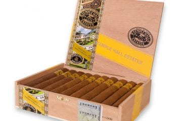Foundry Temple Hall Estates cigar box open