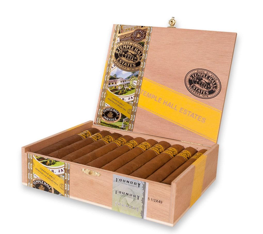 Foundry Temple Hall Estates cigar box open