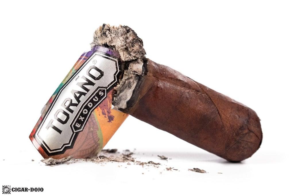 Toraño Exodus Robusto cigar nubbed