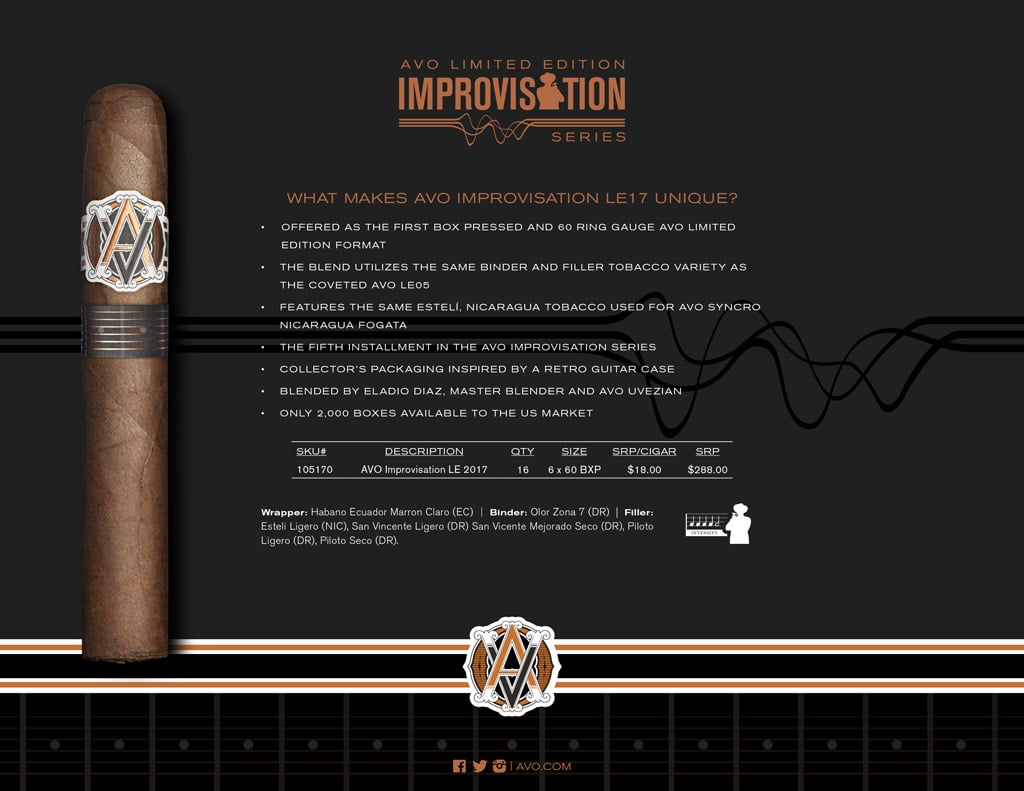 AVO Improvisation Series LE17 cigar information
