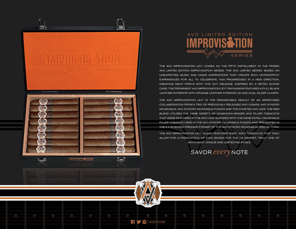 AVO Improvisation Series LE17 cigar open box