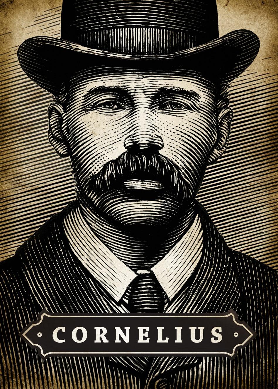 Cornelius & Anthony Cornelius cigar artwork