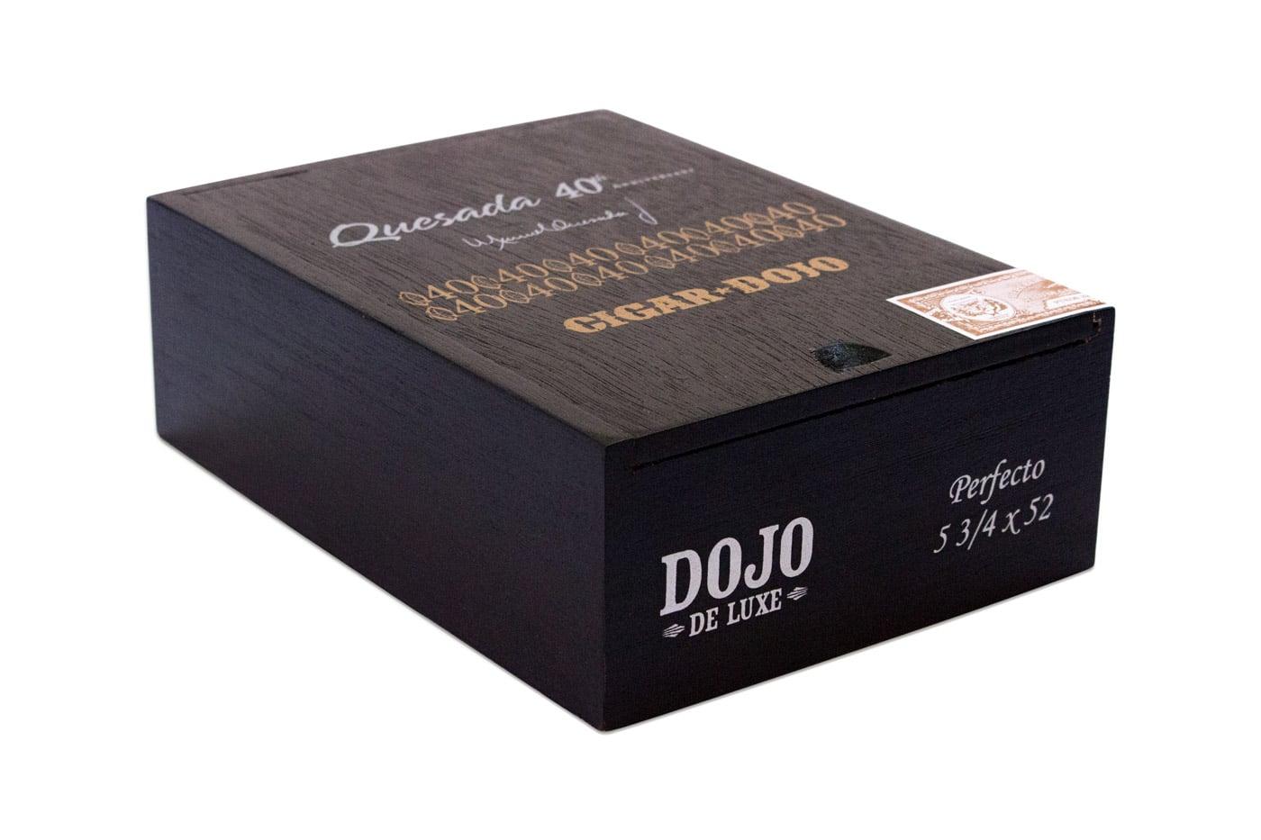 Quesada Dojo de Luxe cigar packaging closed box