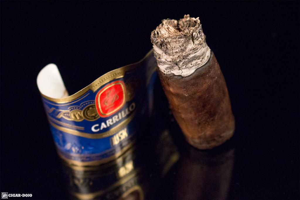 E.P. Carrillo Dusk Stout Toro cigar nubbed