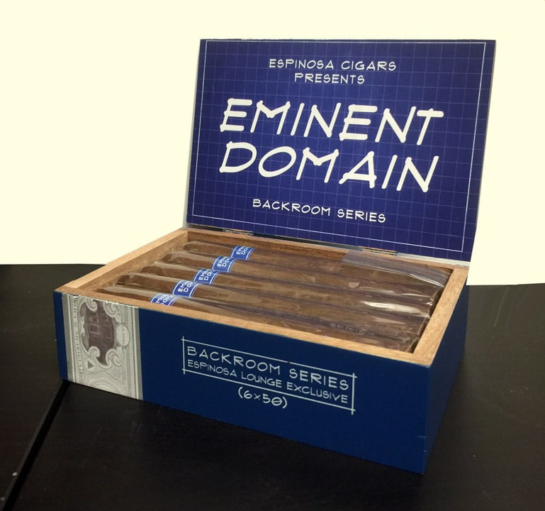 Espinosa Backroom Series Eminent Domain cigar box open