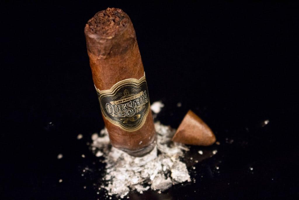 Manuel Quesada 70th Belicoso cigar ash