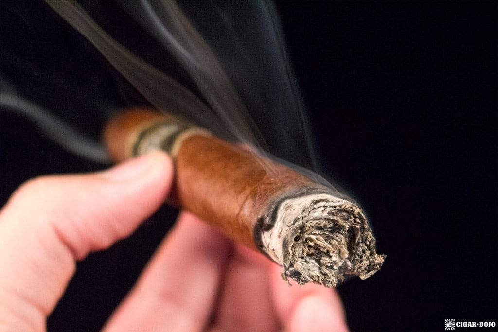 Manuel Quesada 70th Belicoso cigar smoking