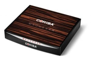 Cohiba Macassar cigar box closed