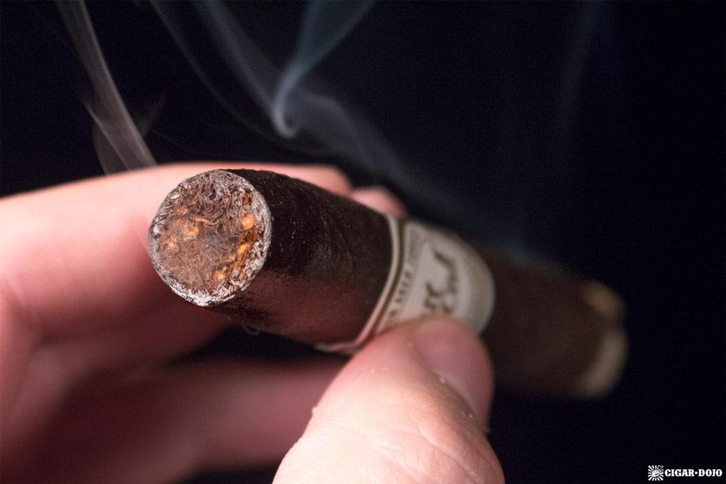 A.J. Fernández Last Call Maduro Flaquitas cigar smoking