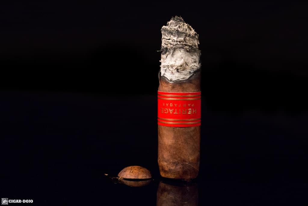 Partagas Heritage Robusto cigar nubbed