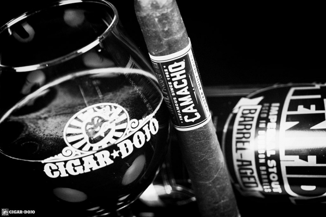Imperial Stout Barrel-Aged cigar with Cigar Dojo tulip and Ten FIDY beer