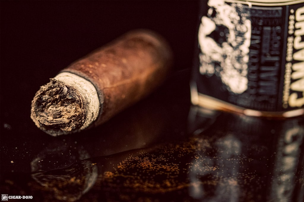 Cigar Dojo Camacho Imperial Stout Barrel-Aged cigar nub