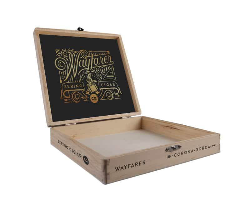 Serino Cigar Co. Wayfarer cigar box open