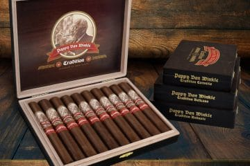Drew Estate Pappy Van Winkle Tradition cigar display