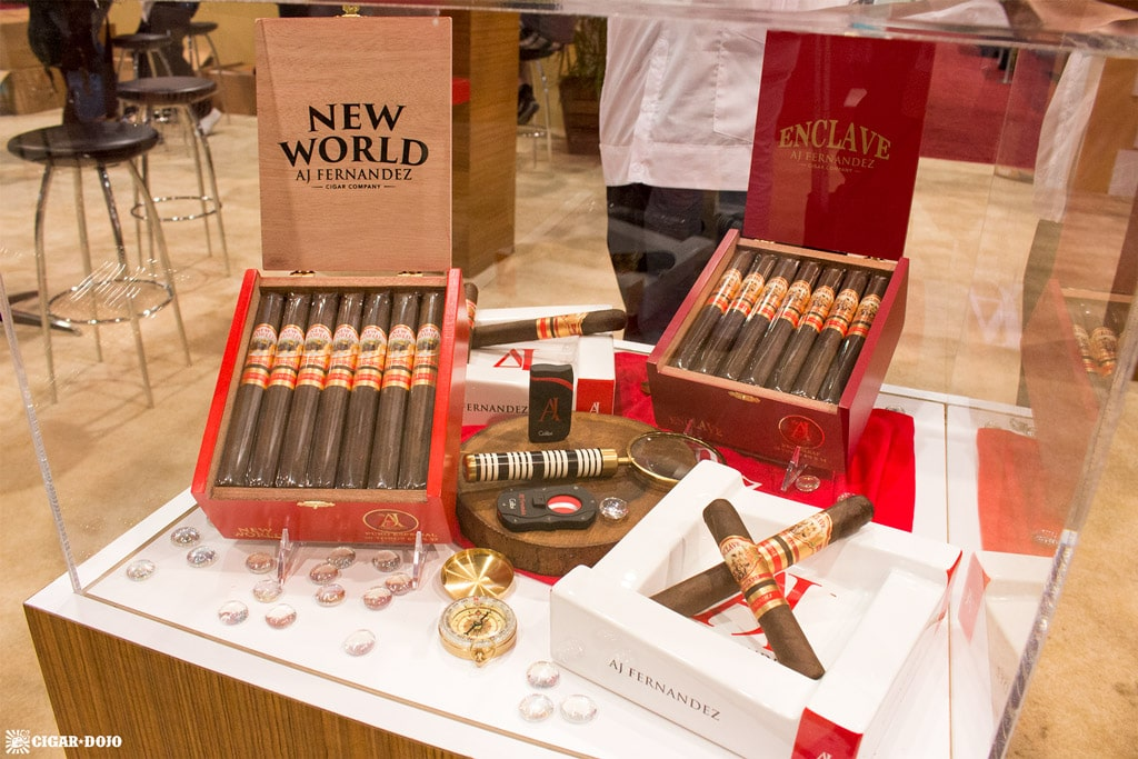 AJ Fernandez new cigars display IPCPR 2017