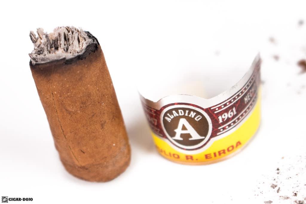 JRE Aladino Robusto cigar nubbed