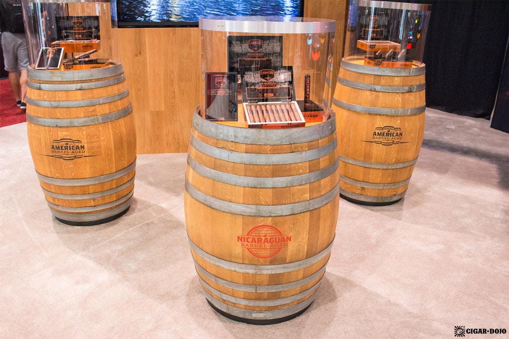 Camacho Cigars barrels display IPCPR 2017