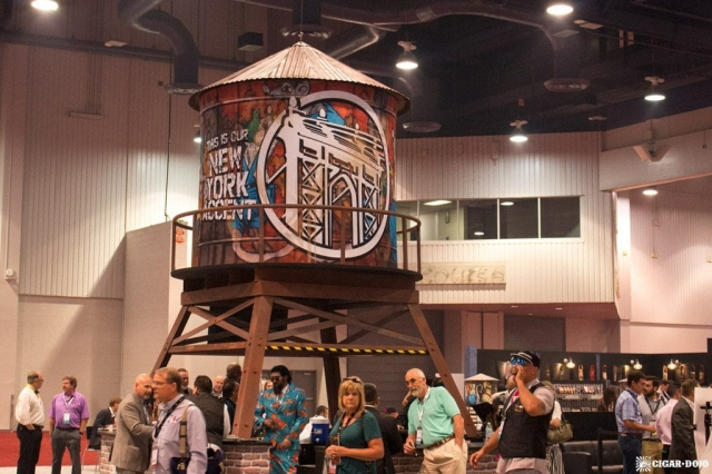 Drew Estate water tower booth display IPCPR 2017