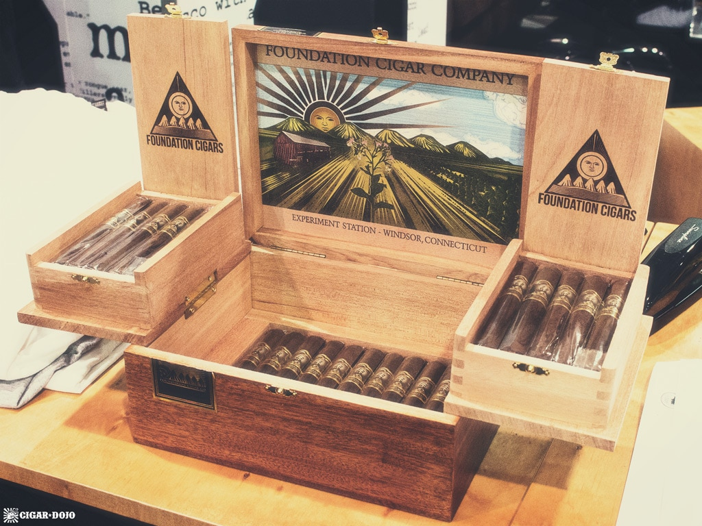 Foundation Cigar Company open humidor