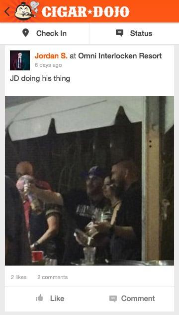 Cigar Dojo app post Jonathan Drew at Drew Estate Mega HERF 2017