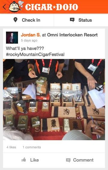 Cigar Dojo app post Drew Estate Liga Privada cigars for sale Rocky ountain Cigar Festival 2017