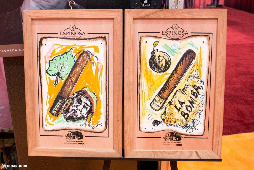 Espinosa cigar paintings IPCPR 2017