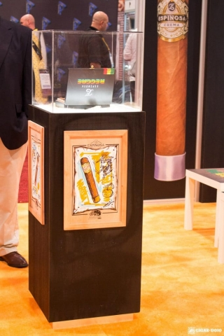 Espinosa Reggae cigar pedestal IPCPR 2017