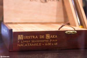 Dunbarton Tobacco & Trust Muestra de SakaNacatamale cigar box IPCPR 2017