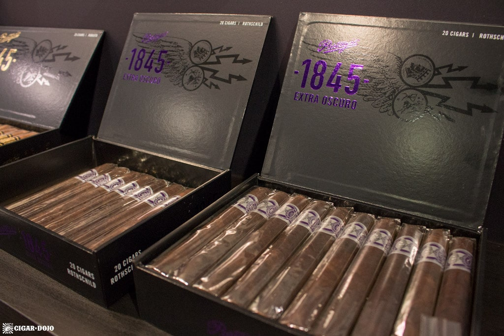 Partagas 1845 Extra Oscuro cigar packaging IPCPR 2017