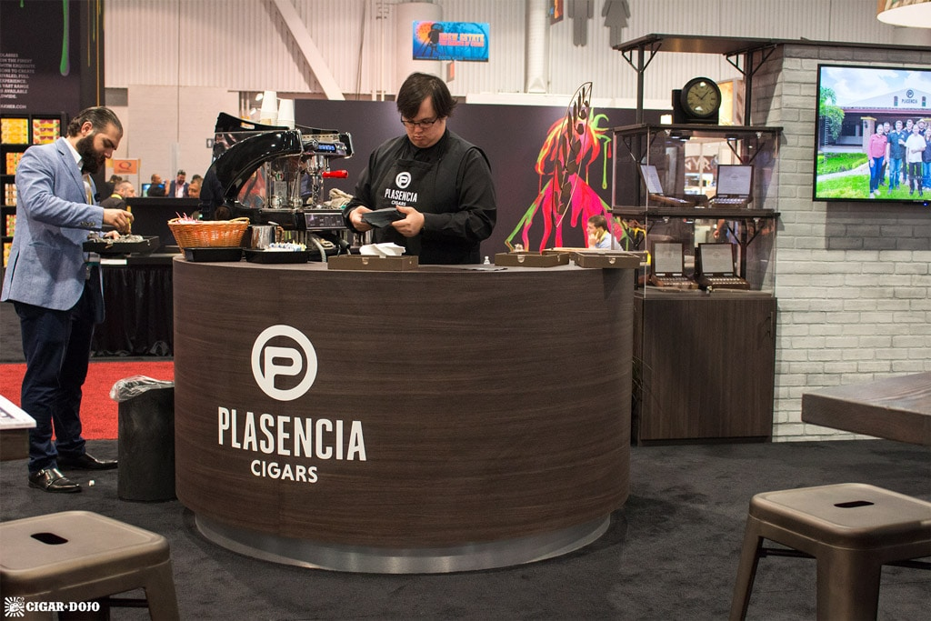 Plasencia 1865 coffee booth IPCPR 2017