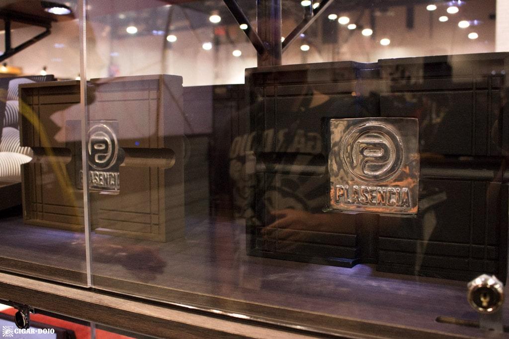Plasencia 1865 cigar box ashtray lids IPCPR 2017