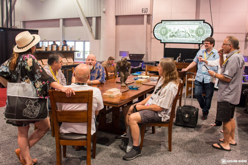 Steve Saka Dunbarton Tobacco & Trust booth IPCPR 2017