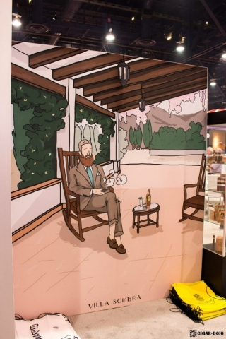 Warped Cigars booth artwork IPCPR 2017