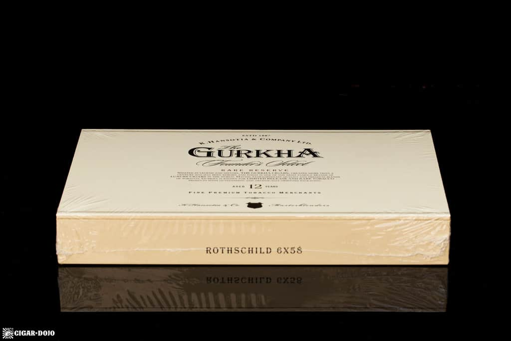 Gurkha Founder's Select Rothschild cigar box