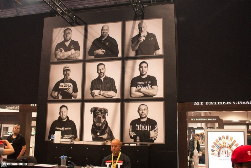 Tatuaje Cigars booth faces IPCPR 2017