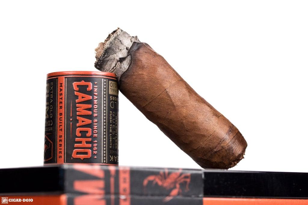 Camacho Nicaraguan Barrel-Aged Toro cigar nubbed