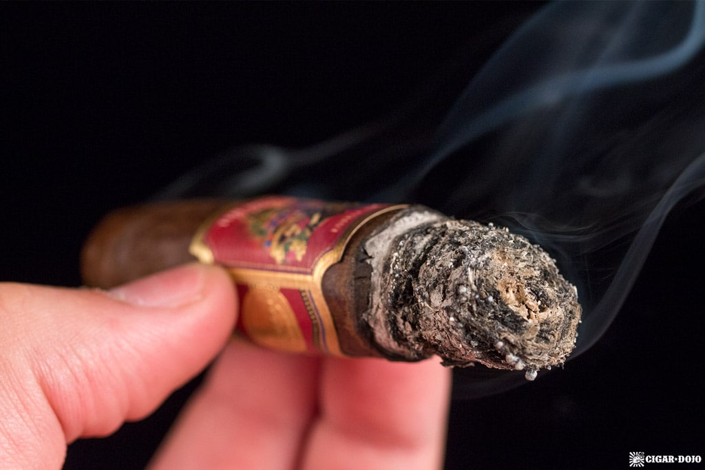 Foundation Cigar Co. The Wise Man Maduro Torpedo cigar ash