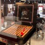 LFD La Volcada cigar box open IPCPR 2017