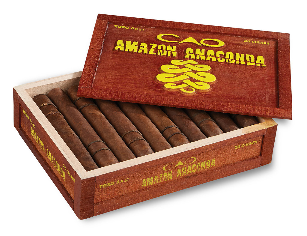 CAO Amazon Anaconda cigar box packaging