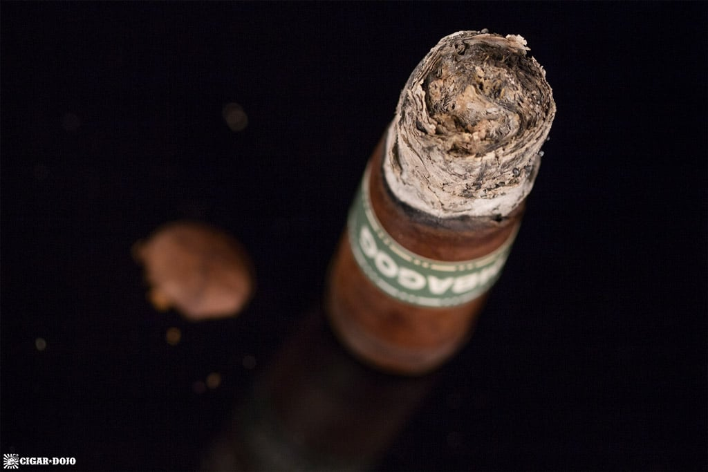Dunbarton Tobacoo & Trust Umbagog Gordo Gordo cigar nubbed