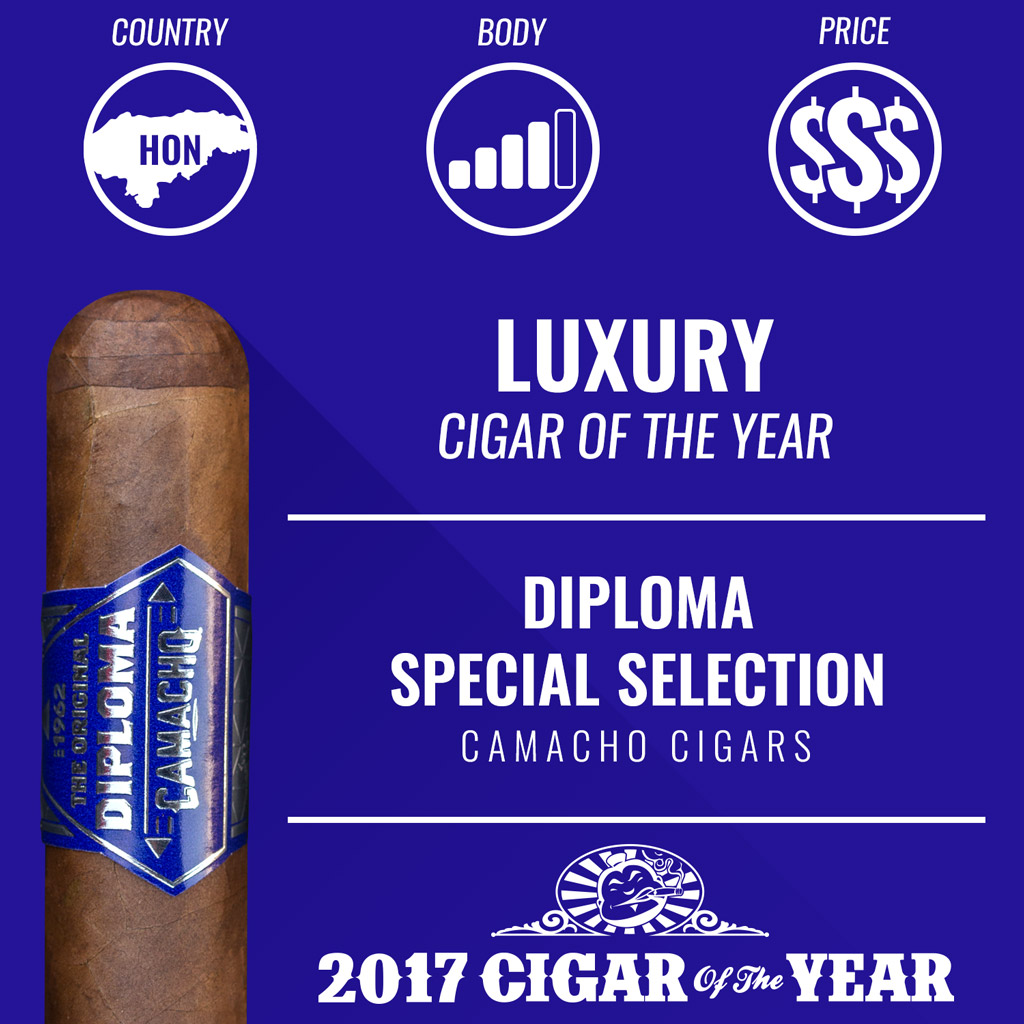 Camacho Diploma Special Selection Robusto Luxury Cigar of the Year Award 2017