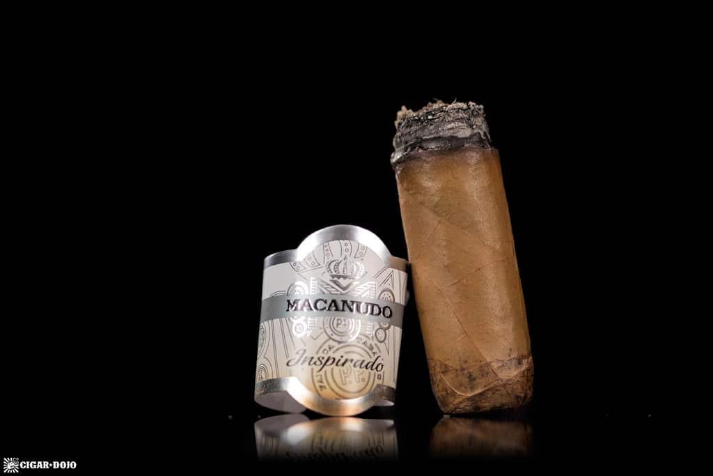 Macanudo Inspirado White Robusto cigar nubbed
