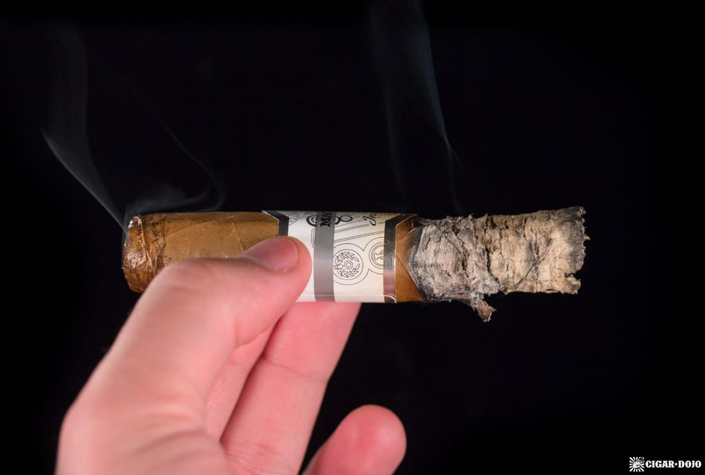 Macanudo Inspirado White Robusto cigar smoking