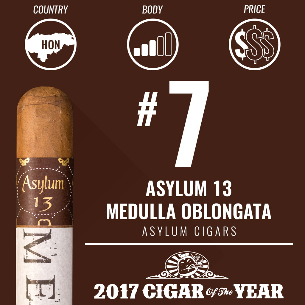 Asylum 13 Medulla Oblongata #7 Cigar of the Year Award 2017