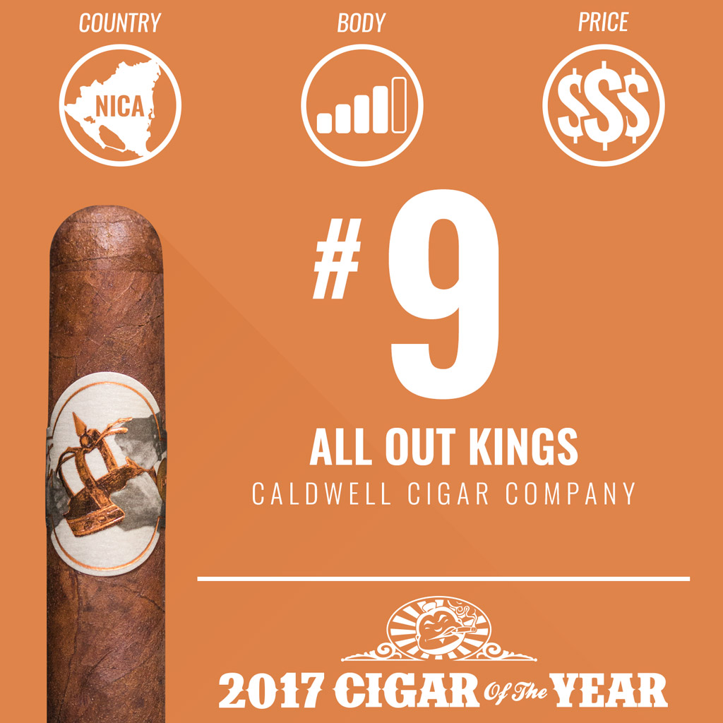 Caldwell All Out Kings #9 Cigar of the Year Award 2017