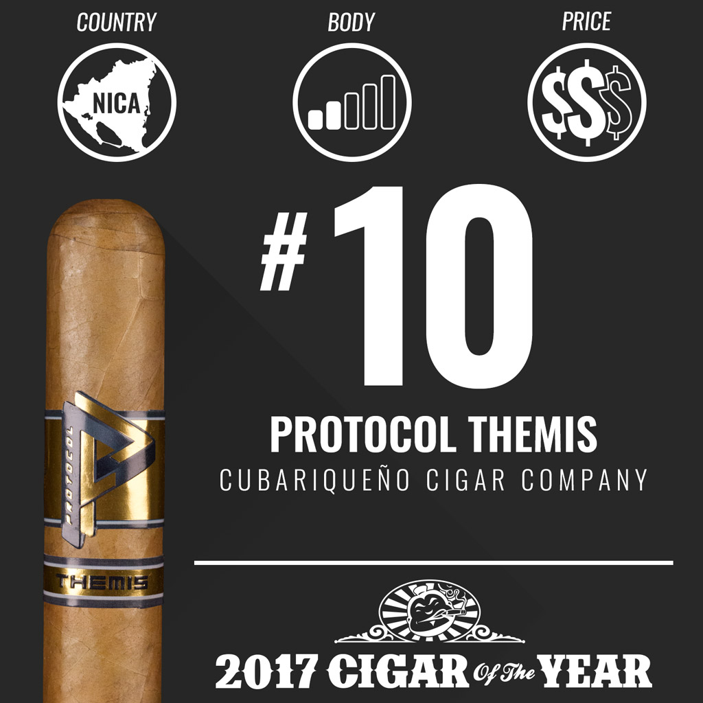 Cubariqueño Protocol Themis #10 Cigar of the Year Award 2017