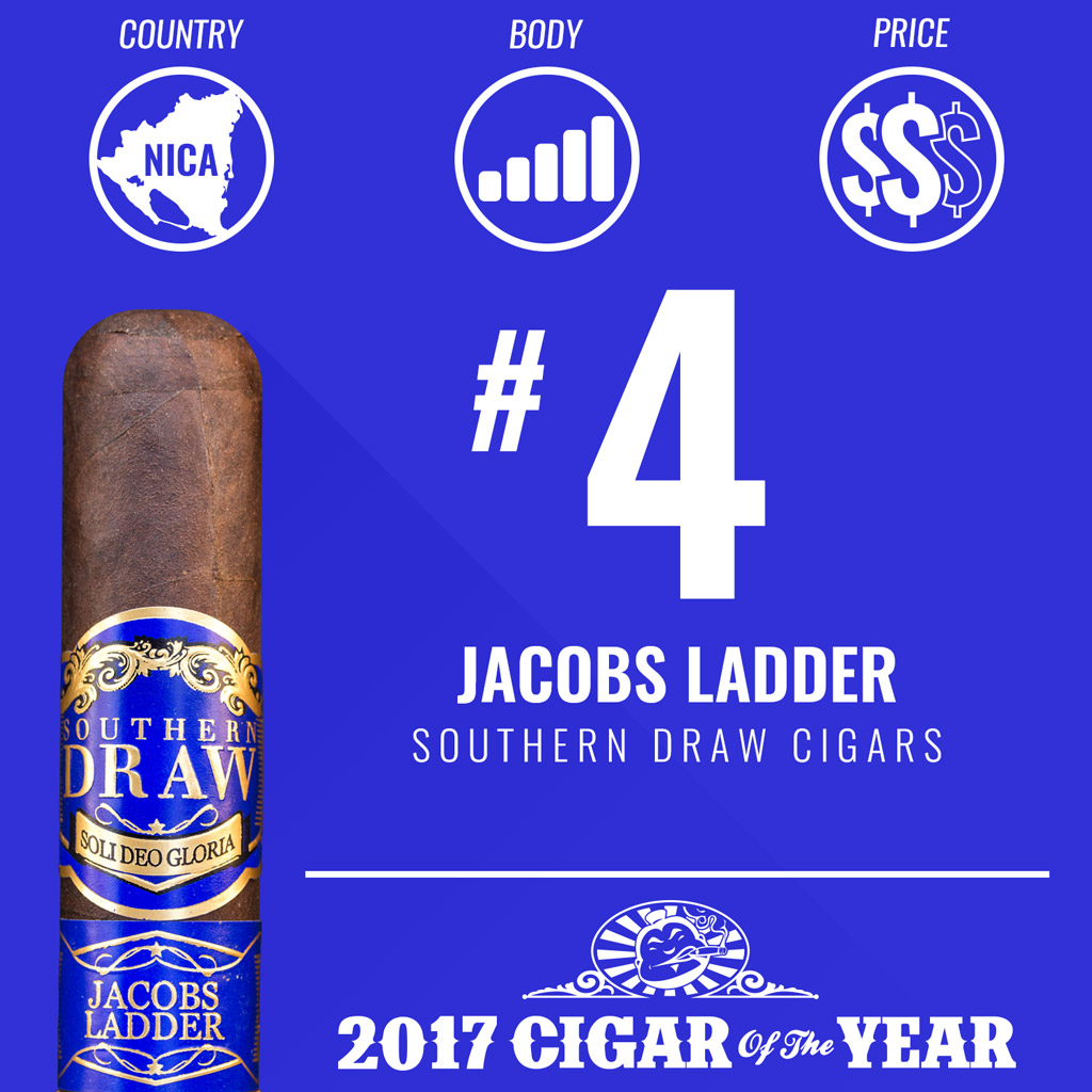 Southern Draw Jacobs Ladder #4 Cigar of the Year Award 2017
