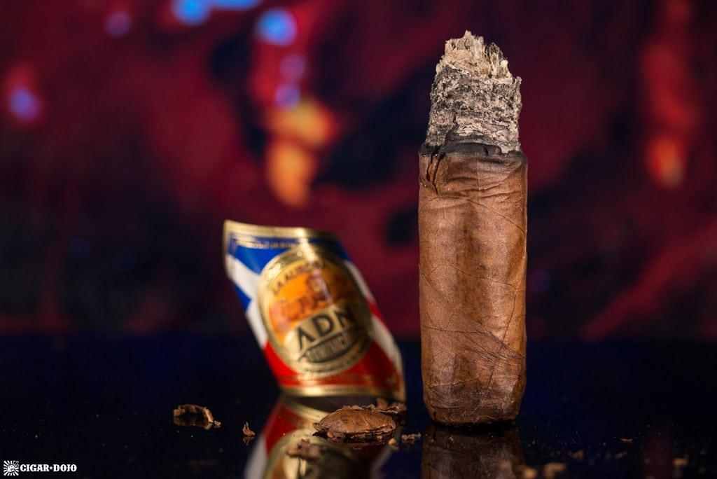 La Aurora ADN Dominicano Toro cigar nubbed