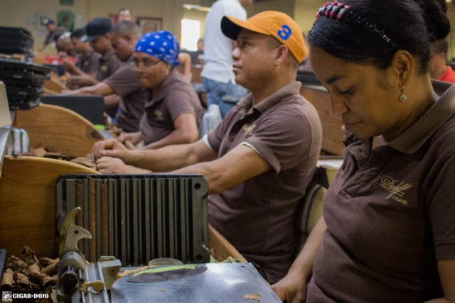 Cigars Davidoff factory floor torcedores
